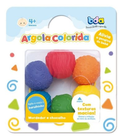 Mordedor E Chocalho De Argola Colorida 2694 Toyster