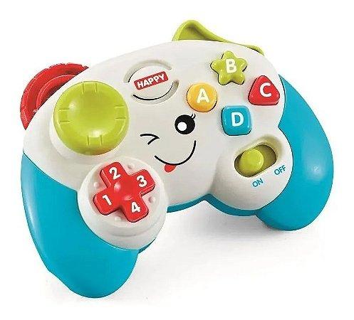 Brinquedo Controle De Videogame Educativo Com Luz E Som