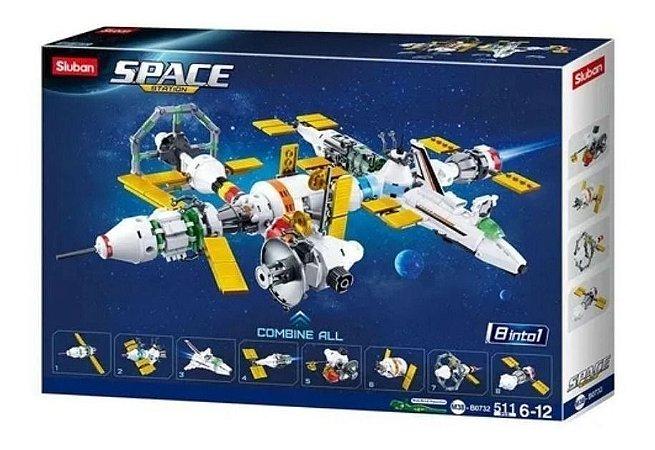 Blocos De Montar Astronautas Estação Espacial 1032 Multikids
