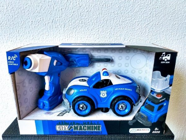 Carro De Policia Controle Remoto Desmontável City Machine