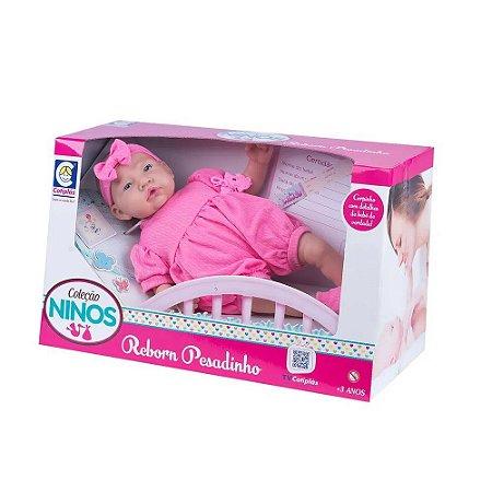 Bebe Reborn Coleção Ninos Pesadinho Menina 2180 Cotiplás