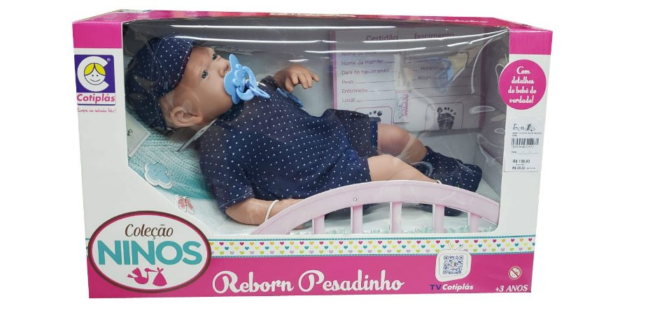 Bebê Reborn Menino Ninos Pesadinho 2181 Cotiplás