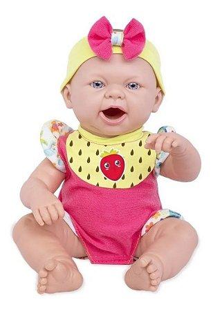 Boneca Baby Ninos Hora Do Lanche Reborn 2406 Cotiplás