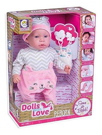 Boneca Bebê Reborn Dolls With Love 2407 Cotiplás