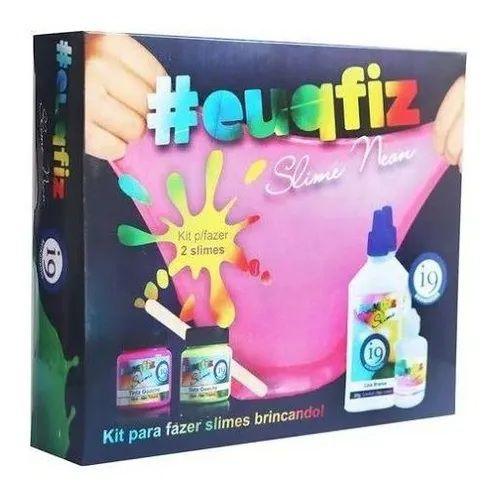 Kit P/Fazer 2 Slimes Neon - Eu Que Fiz I9 Bri0217
