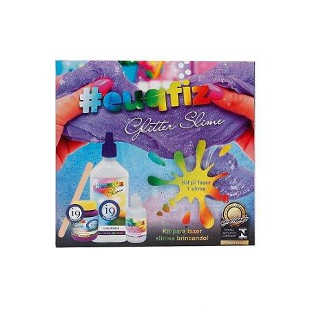 Kit p/ Fazer 01Slime Glitter EuQueFiz i9 Brinquedos