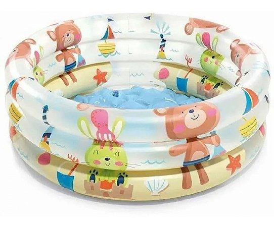Banheira Piscina Bichinho 28L Infantil 57106 Intex
