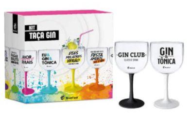Kit Com 2 Taças De Gin Tonica Acrílico De 580 Ml Frases