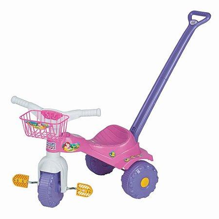 Triciclo Infantil Tico-tico Sereia Com Alça 2141 Magic Toys