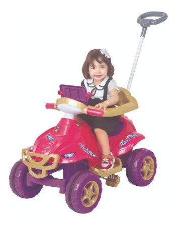 Quadriciclo C/ Som Luz E Pedal Passeio 9404 Magic Toys