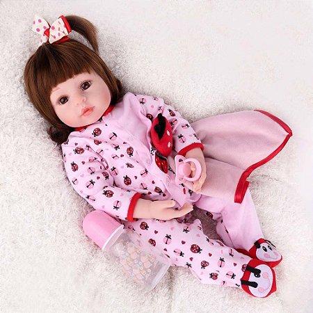 Boneca Bebe Reborn Laura Baby Bruna Nan Shiny Toys