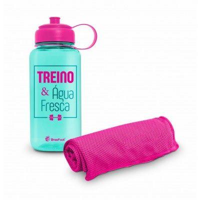 Garrafa e Toalha Treino e Agua Fresca 1046 Brasfoot