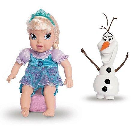 Conjunto de Boneca Elsa e Olaf 30 Cm Disney Frozen
