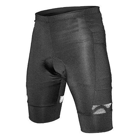 Bermuda Ciclista Masculina C/ Bolso Gel Max Comfort 03817