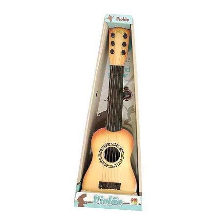 Mini Violão Cor SORTIDA de Plástico Infantil 6 Cordas DmToys