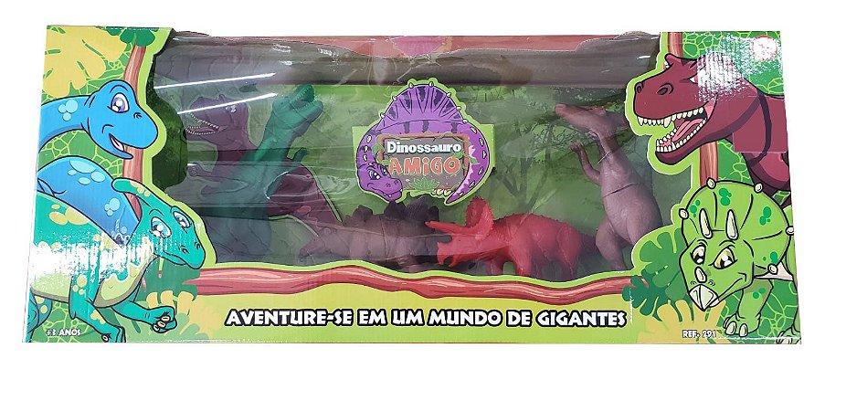 Conjunto Dinossauro Amigo 4 Peças 291 Super Toys
