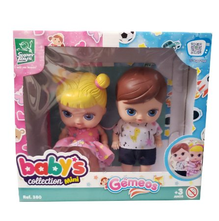 Bonecos Baby's Collection SORTIDOS Gêmeos 380 Super Toys