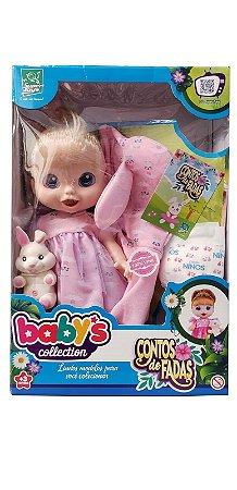 Babys Collection Boneca Contos De Fadas Loira 385 Super Toys