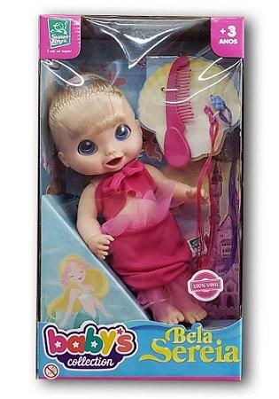 Boneca Bela Sereia SORTIDA Babys Collection Super Toys