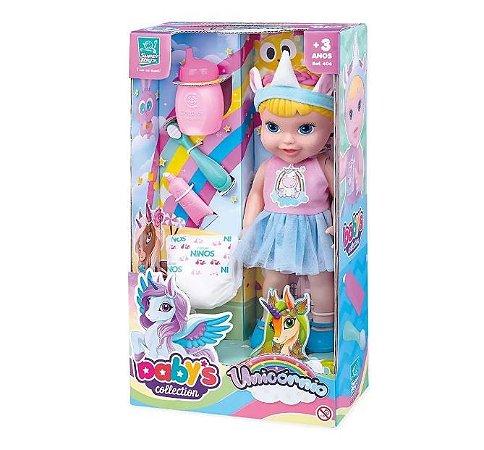 Boneca Baby's Collection Unicórnio Faz Xixi 406 Super Toys