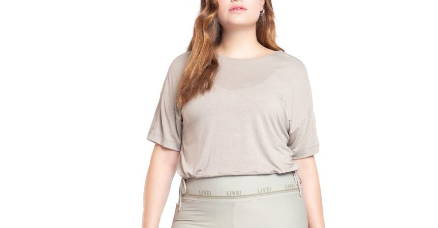 Blusa Cropped Duo Tie Live!