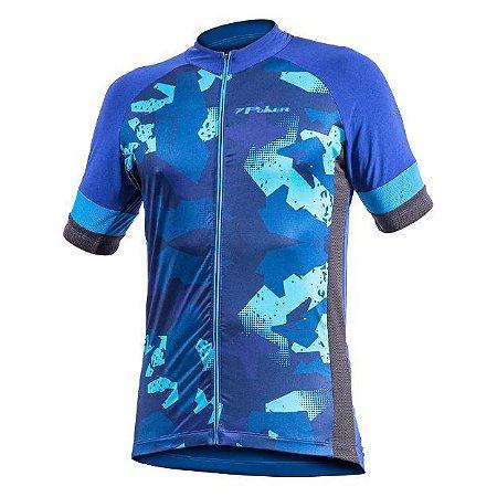 Camisa Ciclista Unissex C/Zíper Total Defend 04185 Poker