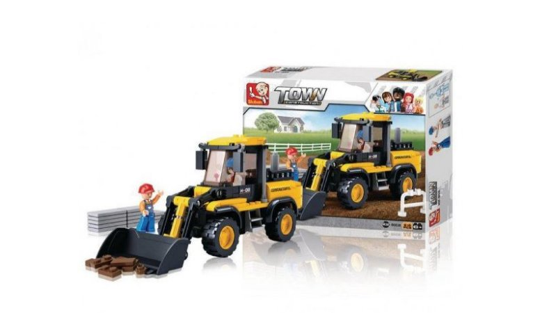 Bloco Montar Town Construction Escavadeira Multikids b0538