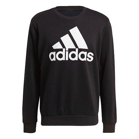 Blusa Moletom S/ Capuz Essentials Big Logo Adidas