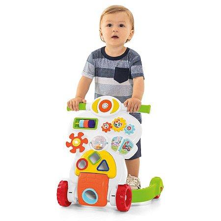 Andador Bebê Piloto Atividades Branco 0889 Calesita