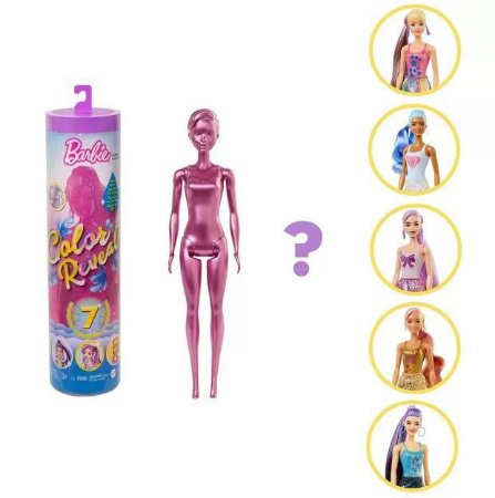 Boneca Barbie Fashionista Color Reveal Glitter Mattel