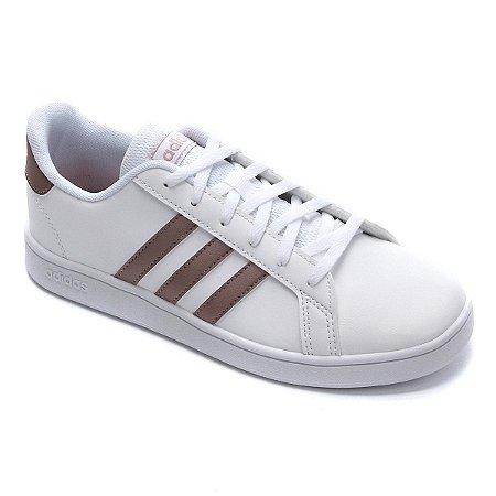 Tenis adidas Infantil Branco - Grand Court Kids