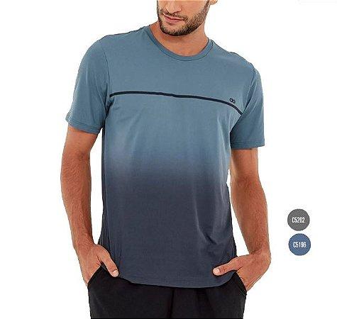 Camiseta Masculina Skin Fit Degrade Alto Giro