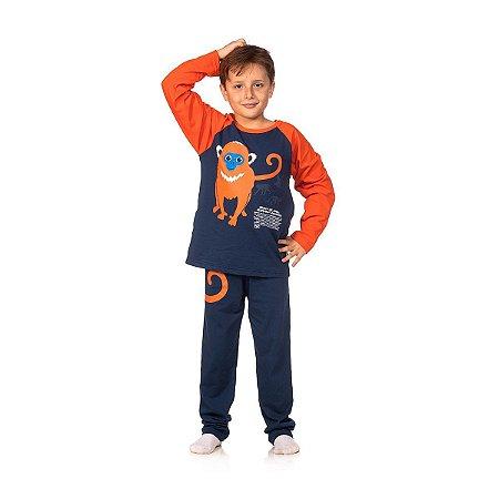 Conjunto Pijama Infantil Macaco Tam. 10