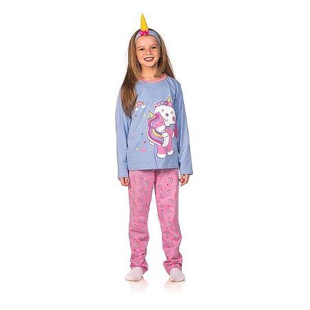 Conjunto Pijama Infantil Meninas Luli Unicórnio C. Criança