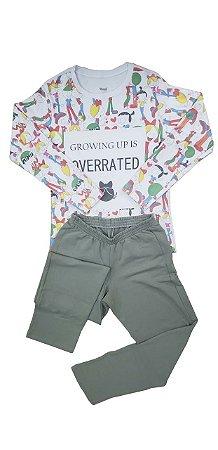Pijama Meninas Longo Infantil Tam. 14 Veggi