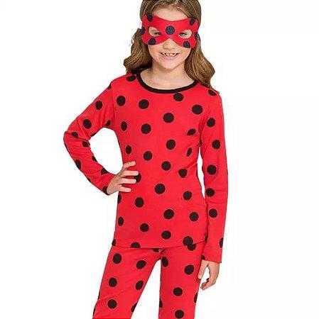 Conjunto Pijama Meninas Tam 3 Miraculous Lady Bug Veggi