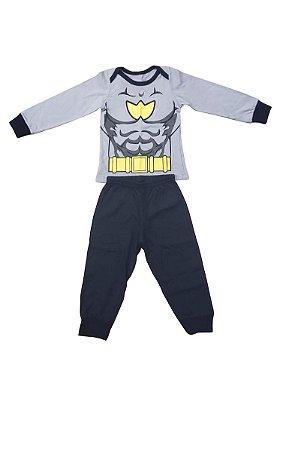 Conjunto Pijama Bebe Tam 6-9M Batman Veggi