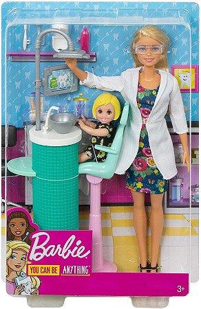 Boneca Barbie Profissões Dentista Mattel