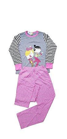 Conjunto Pijama Infantil Longo Meninas Cara de Criança