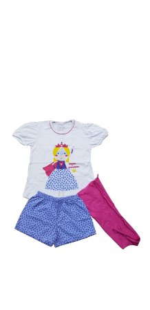 Conjunto Pijama Infantil Meninas Princesa Cara de Criança