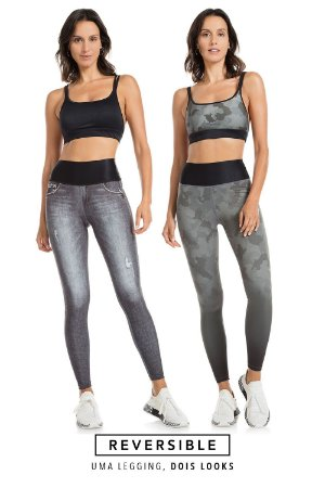 Calça Tam P Fusô Reversible Camuflage Jeans LIVE!