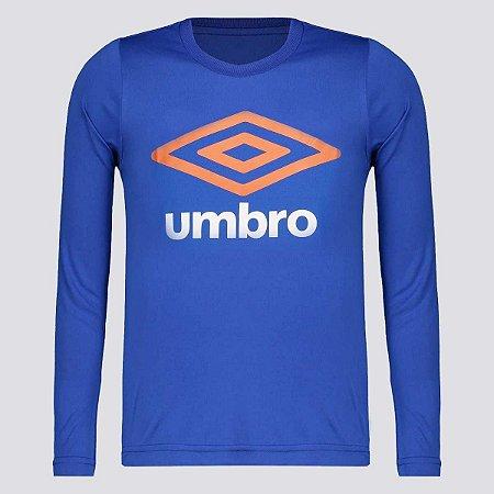 Camiseta Basic UV Manga Longa Juvenil Umbro