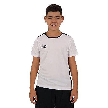 Camiseta TWR Speed New Juvenil Branca e Preta Umbro