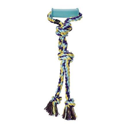 Brinquedo para Cachorro Mordedor Corda com Pegador Mimo Pets