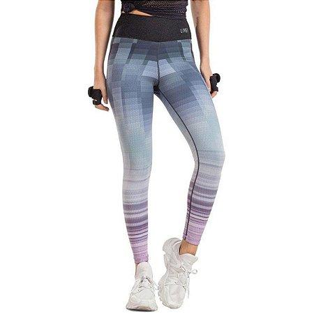 Calça Legging Live Reversível Fresh Linhas Degrades e Jeans
