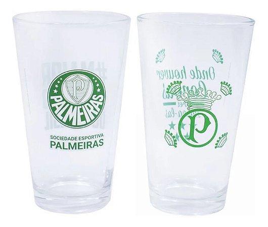 Kit 2 Copos De Vidro 475ml Time Palmeiras