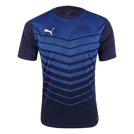 Camisa Play Graphic Masculina Marinho+Azul Puma