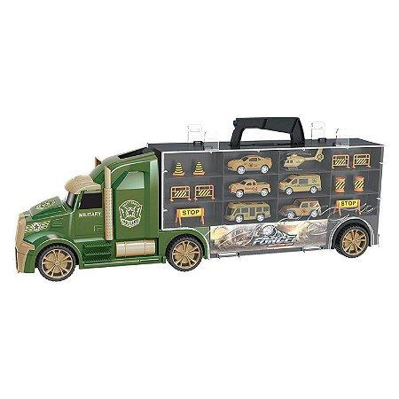 Caminhão Maleta de Veículos Militar 5927 Dm Toys