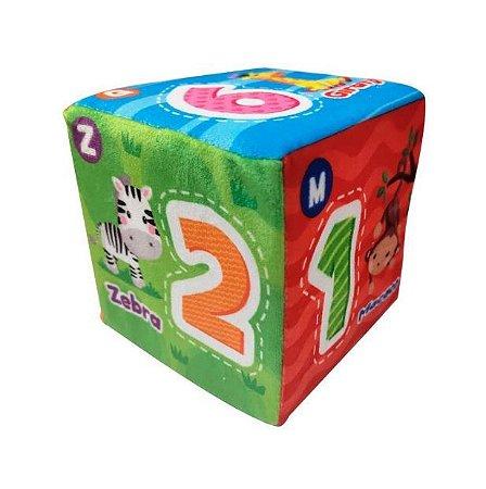 Dado Com Chocalho Para Baby Macio DMB5840 Dm Toys Guta Guti
