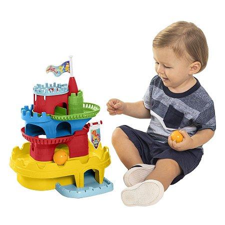 Brinquedo de Montar Didático Monta Castelo Ta Te Ti